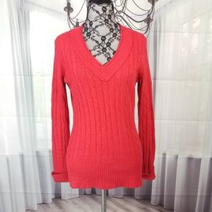 Ann Taylor Loft Medium Cable Knit Sweater RL17☮️